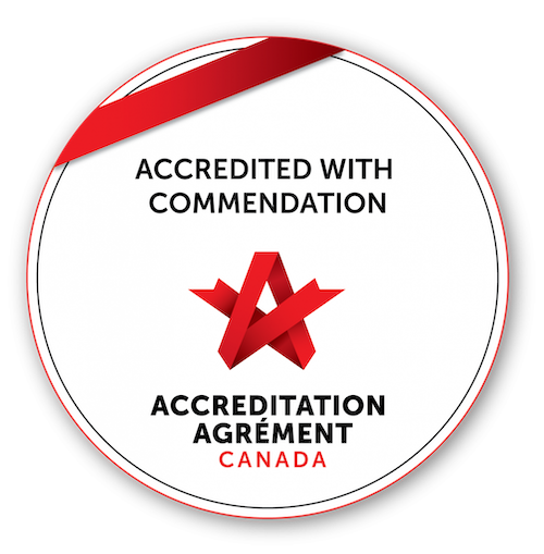 Logo for Accredited With Exemplary Standing, Accreditation Canada